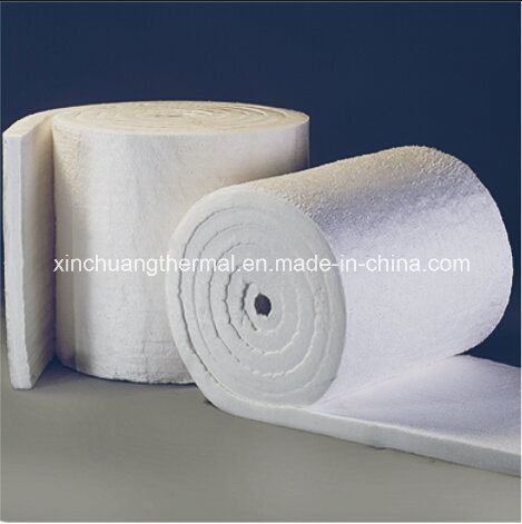 Environmental Formaldehyde-Free White Glass Wool Blanket for Heating Insulation