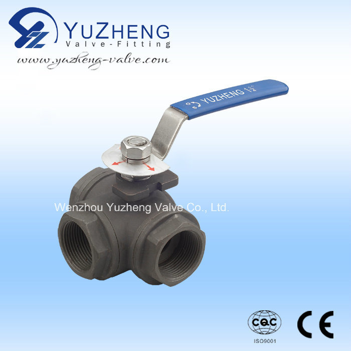 Stainless Steel T/L Type 3 Way Ball Valve