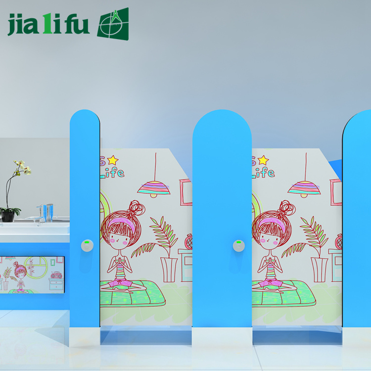 Jialifu HPL Solid Phenolic Panel Children Shower Cubicles