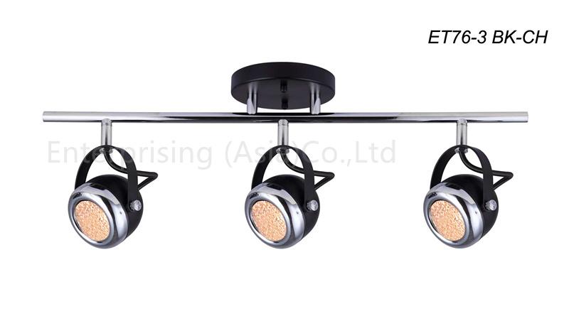 LED Spot Light LED Track Lighting Chrome with Textured Glass
