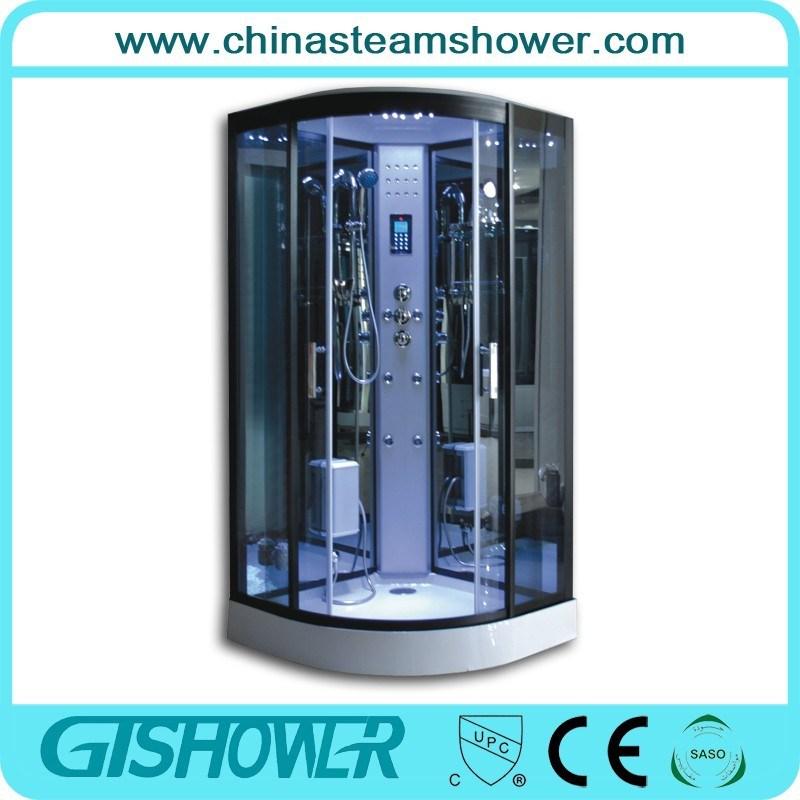 Cheap Black Glass Steam Shower Cabin (GT0513A)
