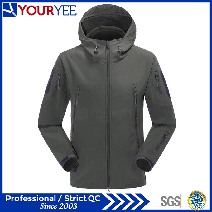 Military Camo Softshell Jacket Wholesale Waterproof Breathable Outerwear (YRK116)