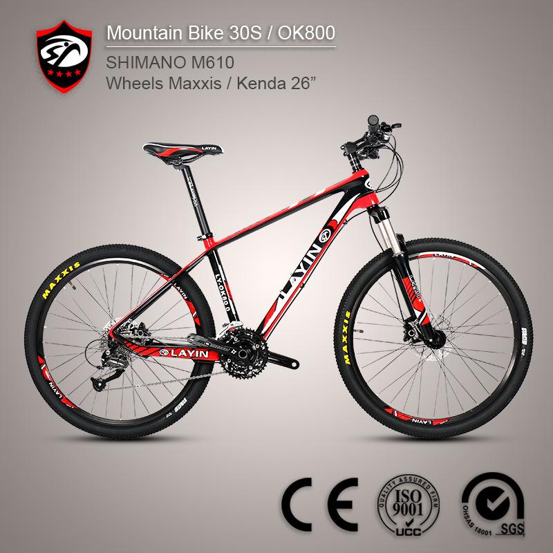 Bicycle Factory 27-Speed Shimano Altus M370 Carbon Fiber Mountain Bike