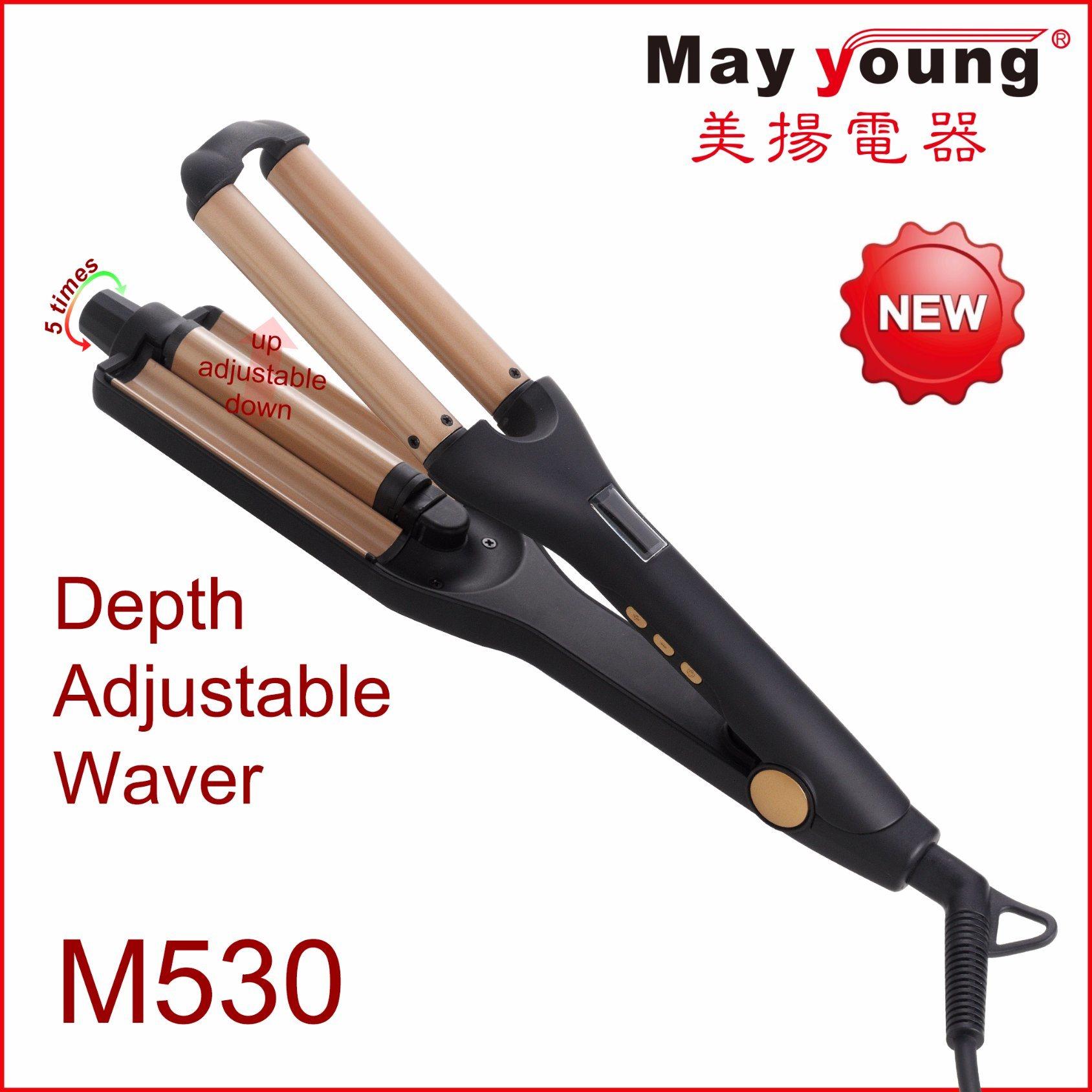 2017 New Products Adjustable 3 Barrel Waver Triple Barrel Hair Curling Iron Hair Curler
