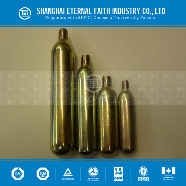 Made in China 8g 16g 33G 60g CO2 Cartridges CO2 Gas Cylinder