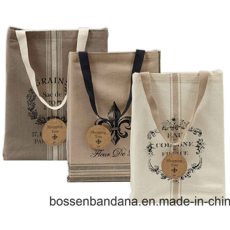 OEM Produce Customized Logo Printed Promotional Cotton Canvas Craft Tote Bag