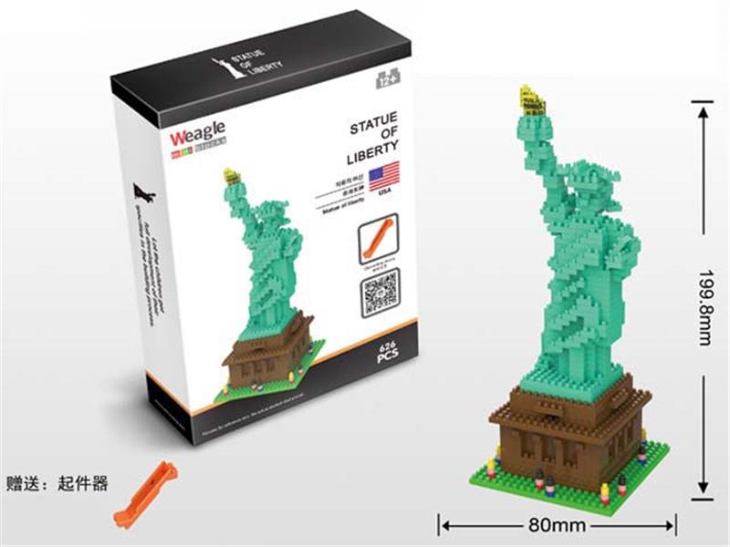 626PCS Small Brick Toy Statue of Liberty Diamond Building Block (10205372)