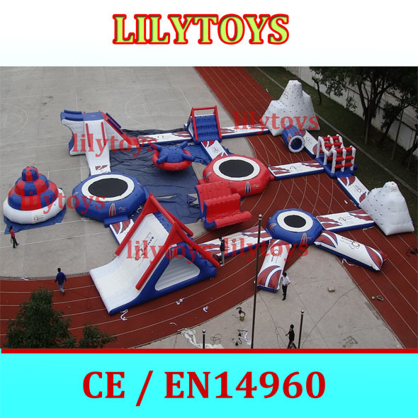 Sea play Inflatable Water Park equipments for Kids and Adults