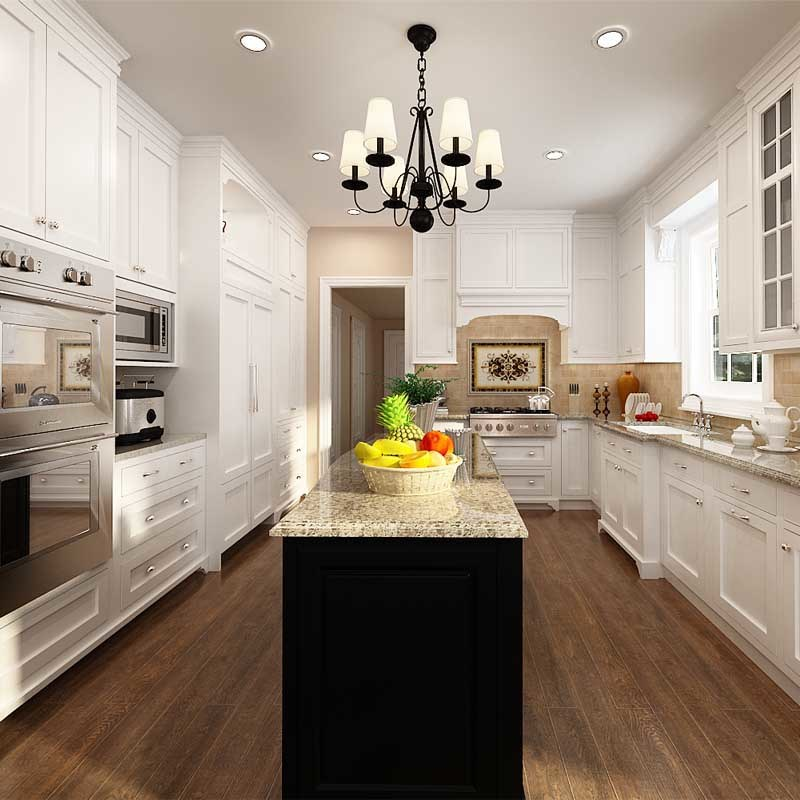 China oppein project white solid wood modular kitchen for White solid wood kitchen cabinets