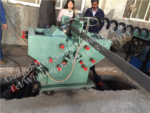 Hydraulic Conveyor spiral Blade Cold Rolling Machine