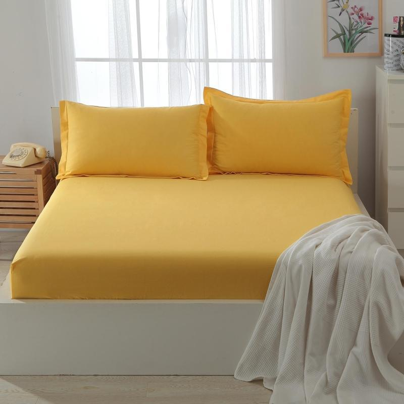 Cotton Polyester Fitted Sheet Sets solid Color