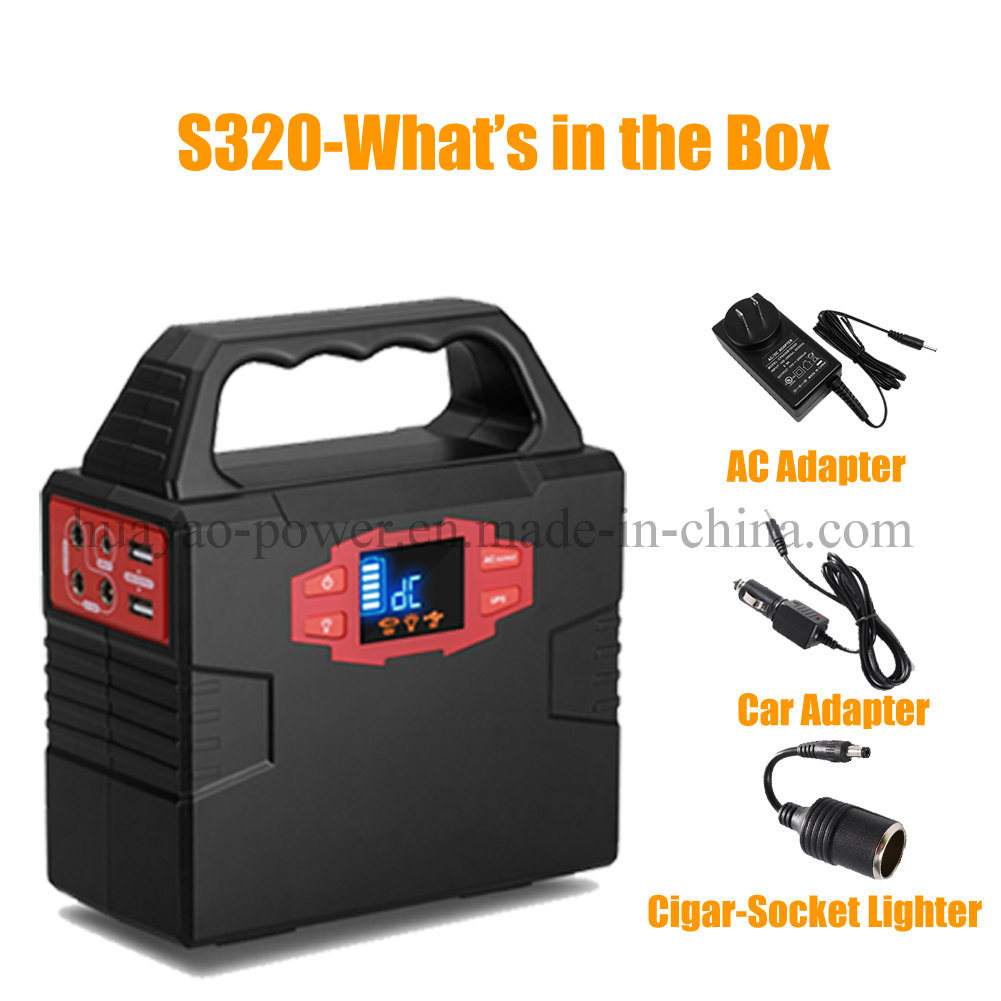 40800mAh/150wh Home Solar Generator Power Source Power Supply with LED Lighting