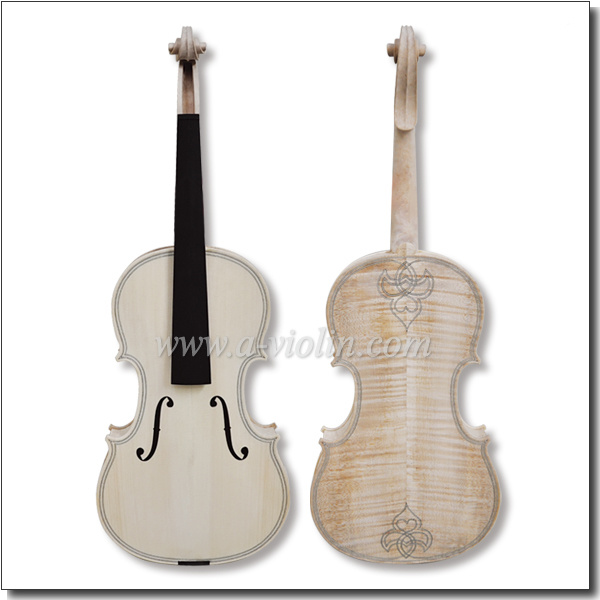 Unvarnished Flamed Maple White Viola (L200M)