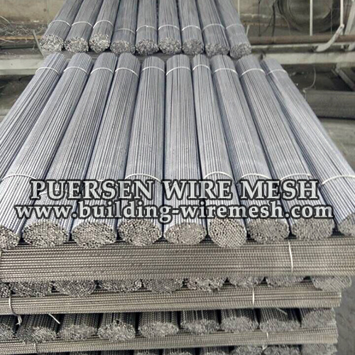 Concrete Construction for Cold Drawing Ribbed Wire