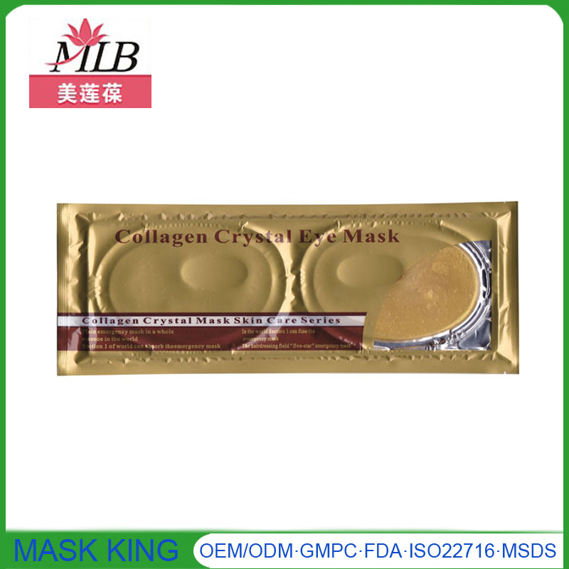 Wholesale Cosmetics Beauty Products Collagen Crystal Gel Anti Dark Circle 24k Gold Eye Mask