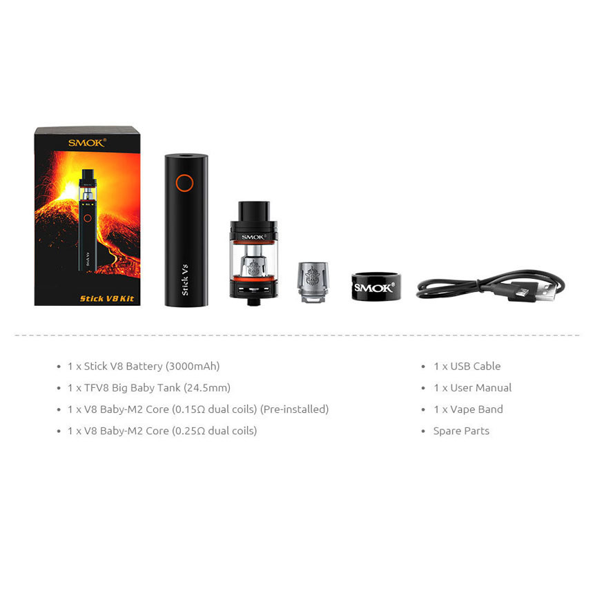 Top Quality Vape Mod V8 Kit Huge Capacity E Cigarette