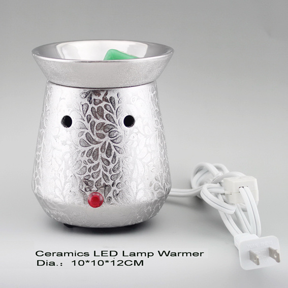 15CE23907 Silver Plated Electric LED Light Warmer