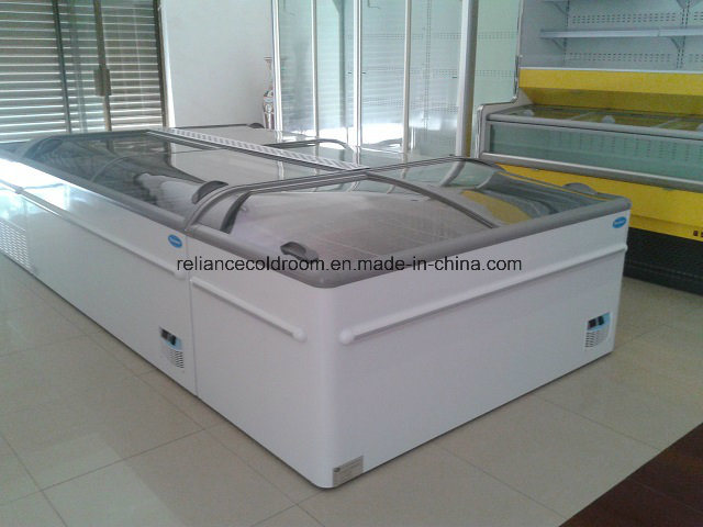 Commercial Island Freezer with Sliding Door