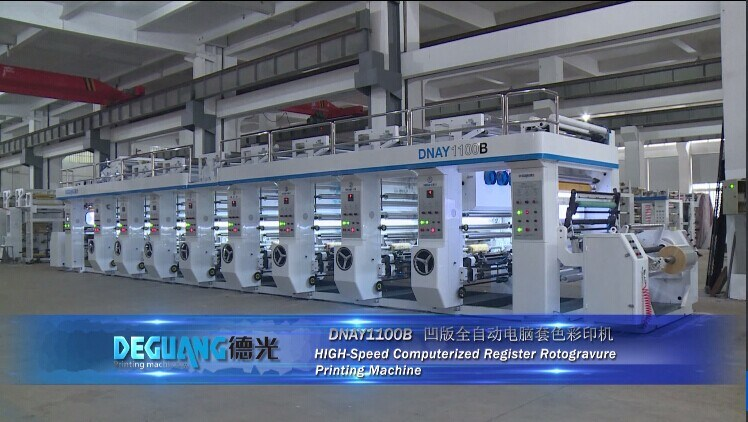 High Speed Rotogravure Printing Machine for Plastic Paper