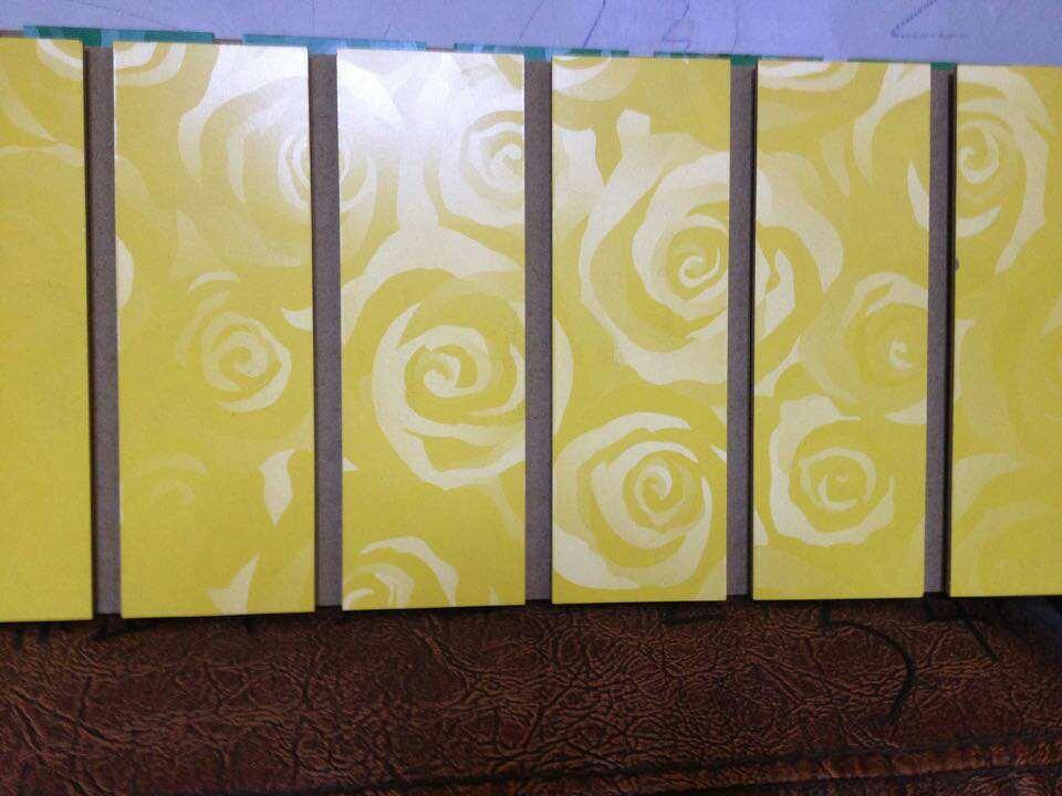 Melamine Paper Overlaid Grooved MDF in Decoration