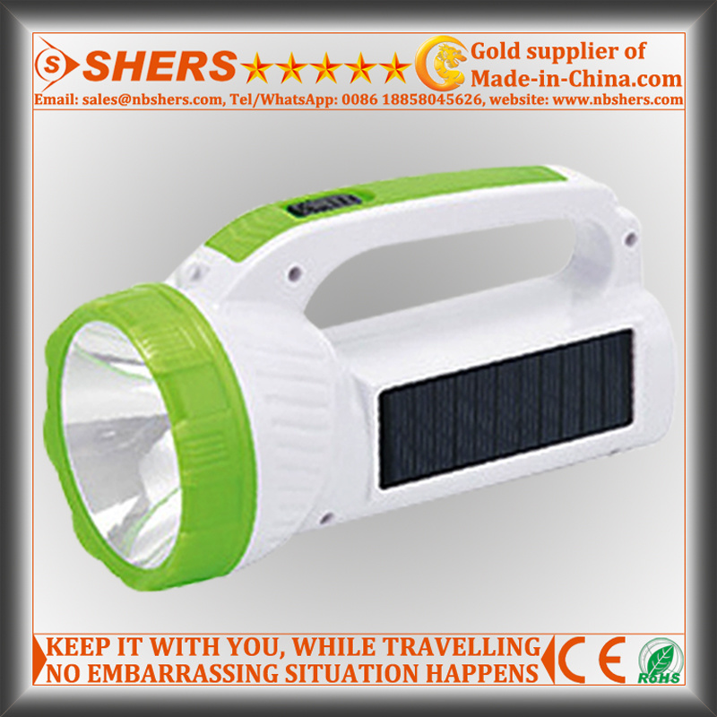 Solar 1W LED Torch with COB LED Desk Light (SH-1984)