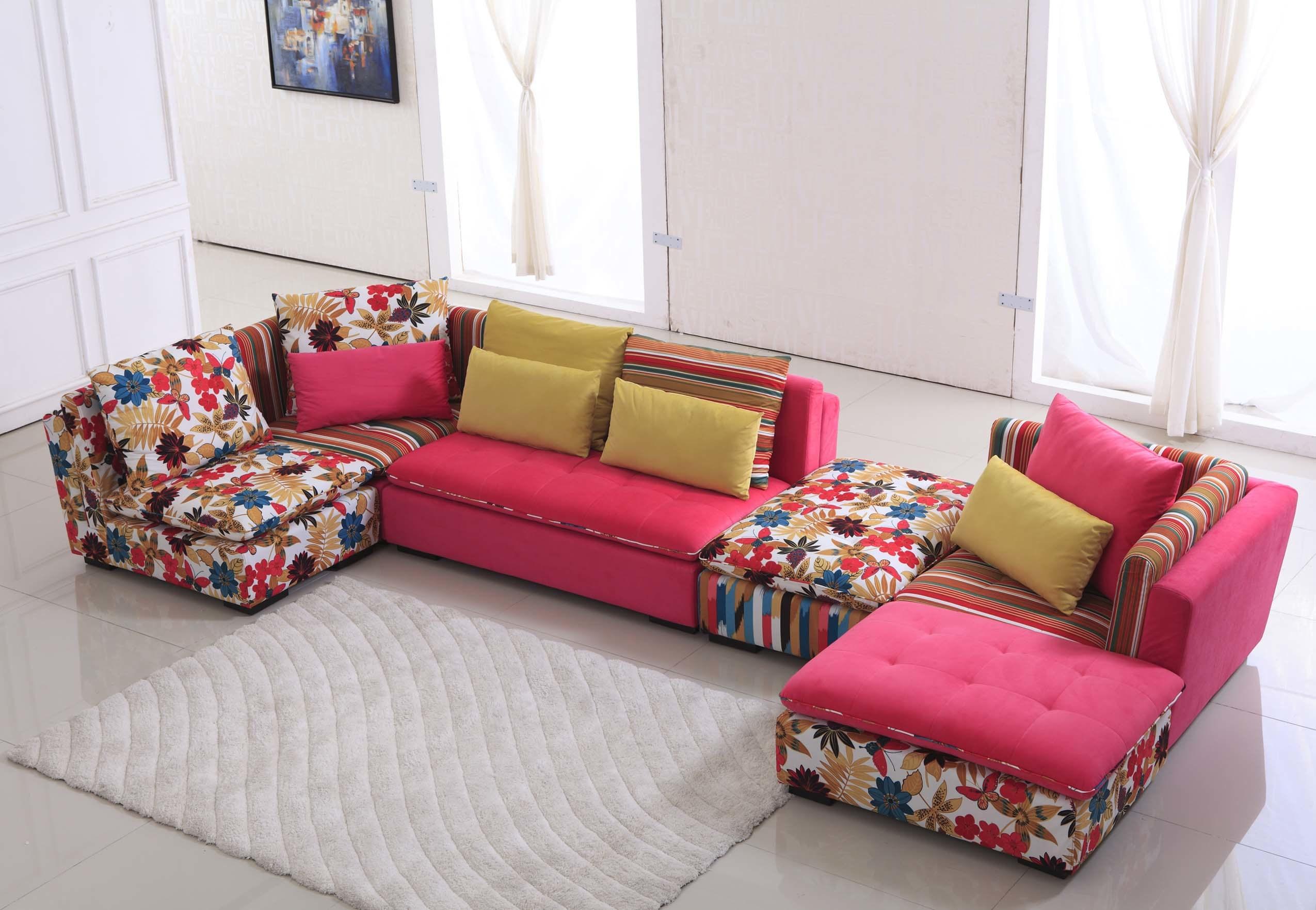 China modern corner fabric sofa ls4a184 china corner for Sofas en l modernos