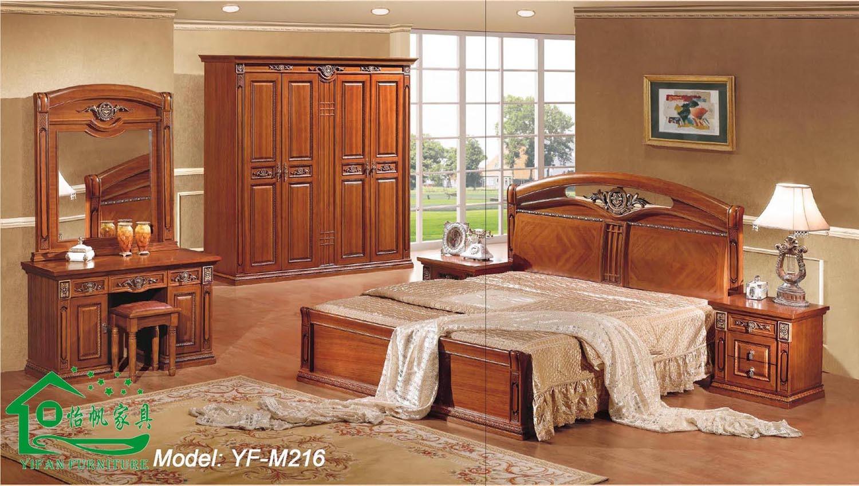 Chambre coucher furniture avec 80 inch length wood bed Les chambre a coucher en bois