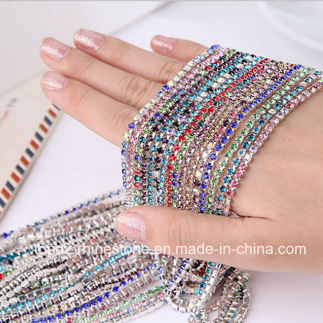 Wholesale Strass Roll Rhinestone Close Cup Chain Rhinestone