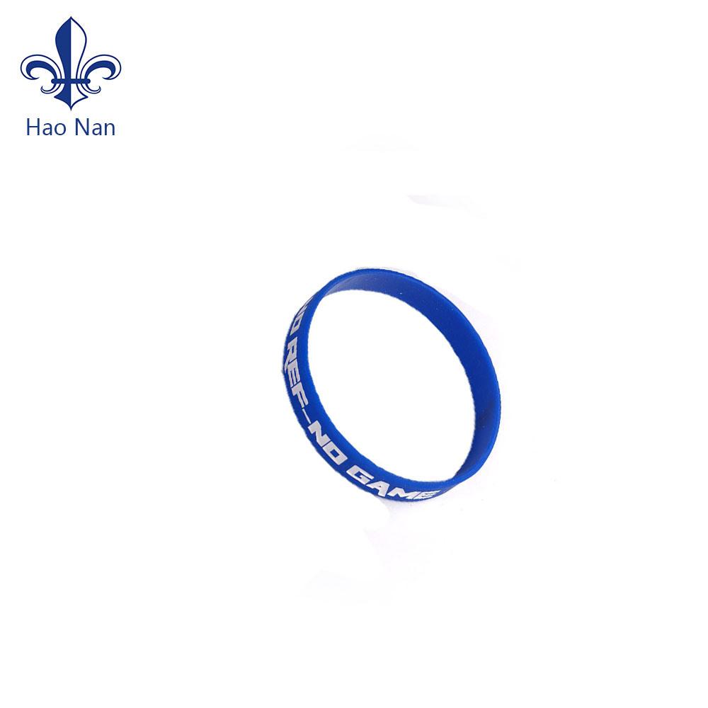 Custom Logo Debossed Printing Rubber Silicone Wristband