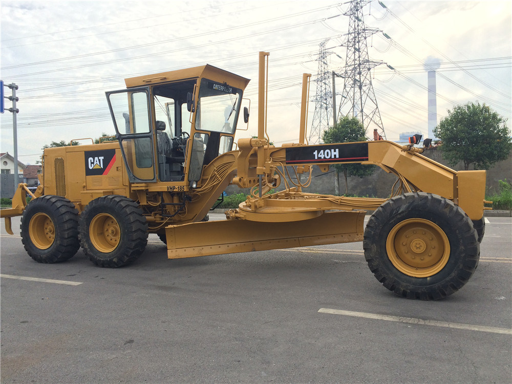 Used Caterpillar 140 Motor Grader Cat 140h Grader with Ripper