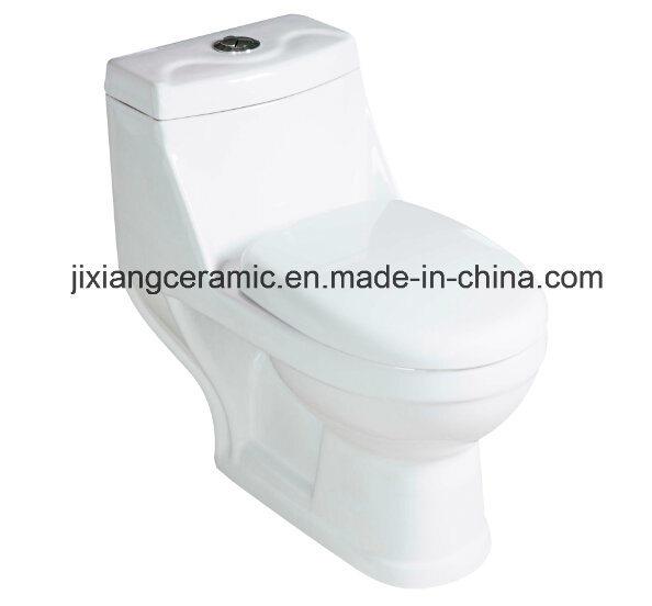 Hot Ceramic One-Piece Toilet 20# Washdown with Saso