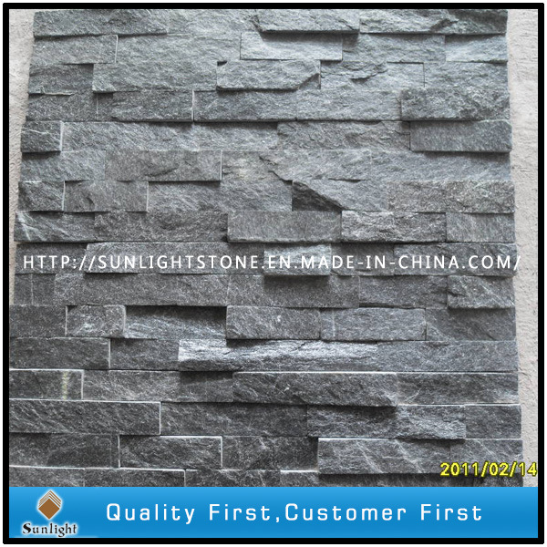 Culture Stone Black Slate with Natural Split Surface for Wall Cladding
