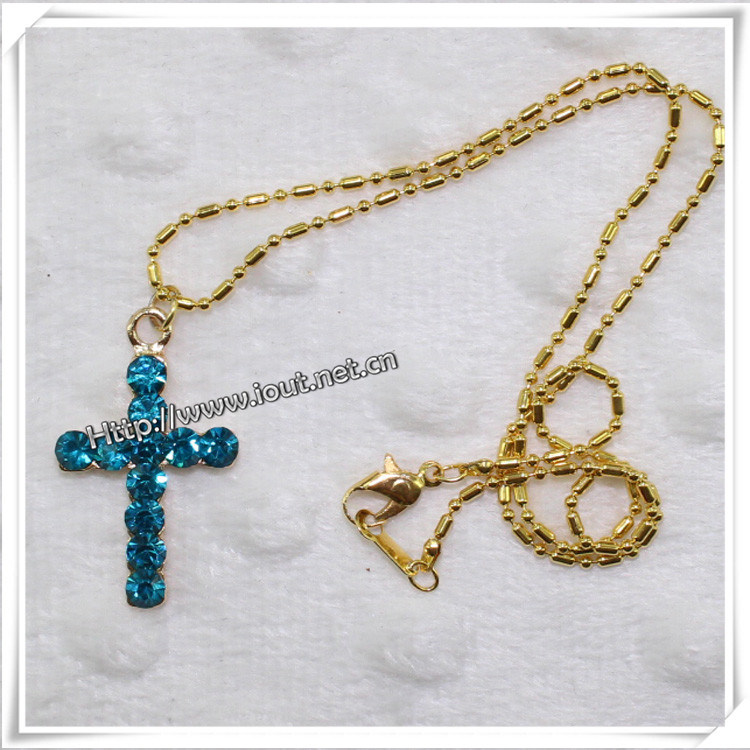 Metal Multi Layer Chain Charm Statement Necklace Fashion Jewelry (IO-an014)