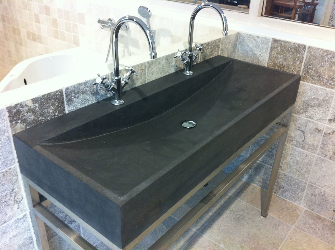 Limestone Sink : China Washing Stone Basin/ Limestone Bathroom Sink Photos & Pictures ...