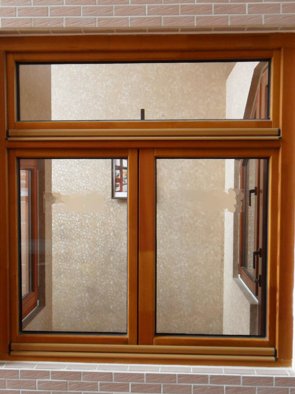 China customzied double glazing solid wooden window photos for Wooden windows