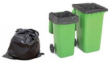 LDPE Black Star Seal Roll Packed Plastic Garbage Bag