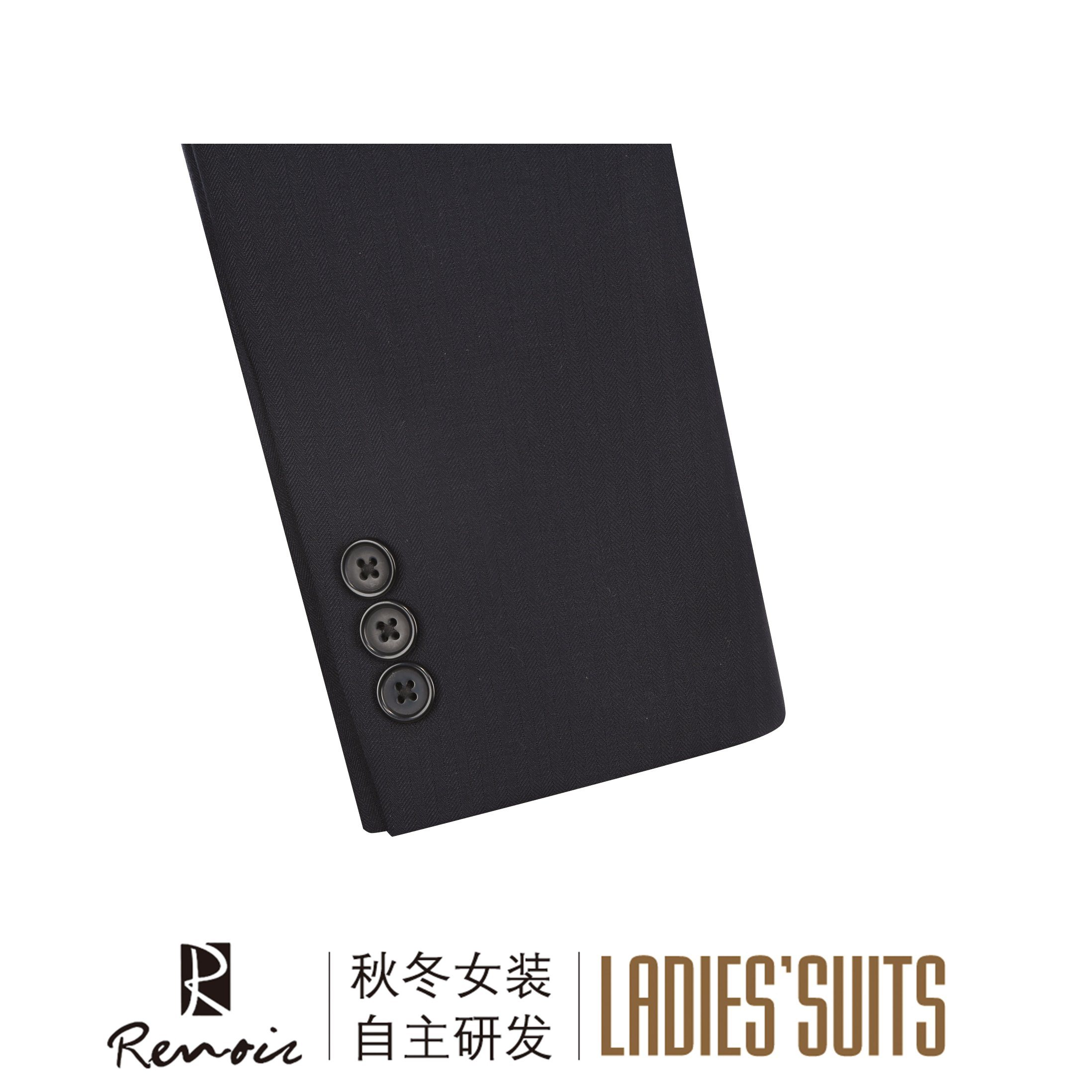 OEM 2 Piece Peak Lapel Women′s Suit