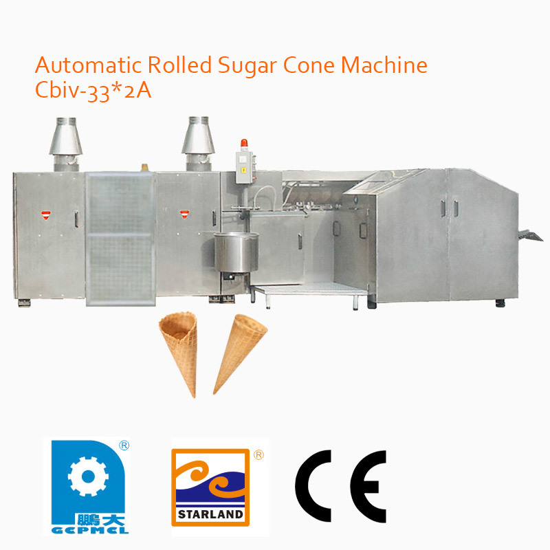 Automatic Rolled Sugar Cone Machine Cbiv-33*2A