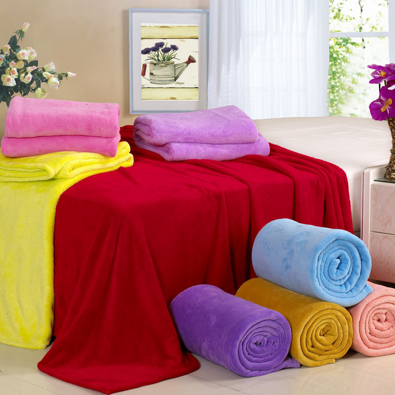 Lovely Coral Fleece Printed Blanket