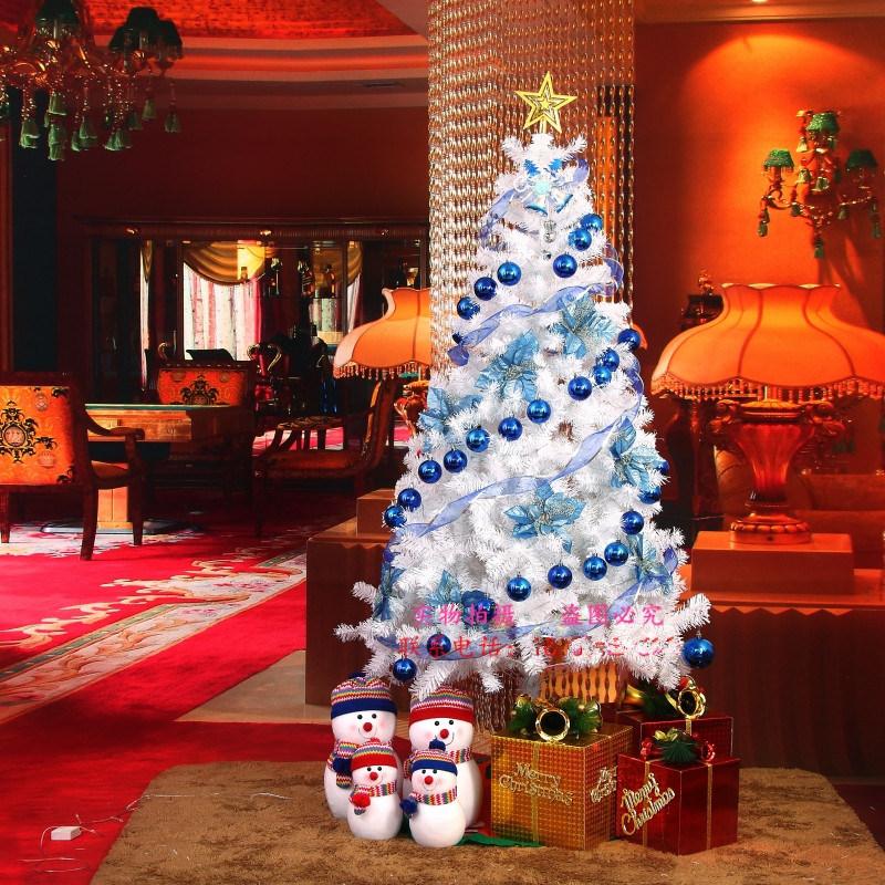 Wholesale Christmas Decoration 120cm /150cm/ 180 Cm Encryption White Snow 180cm Christmas Tree with Variou Accessories and LED Light
