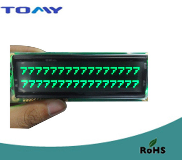 16X2 Va Liquid Crystal Module with Green LED Backlight