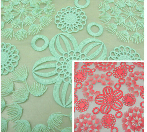 Supply High-Grade Ladies Organza Embroidery Fabrics Embroidered Cloth
