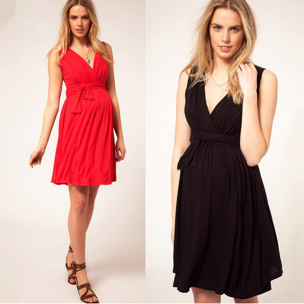 100% Cotton Plain Maternity Dress/Maternity Clothes for Pregnant Women for OEM