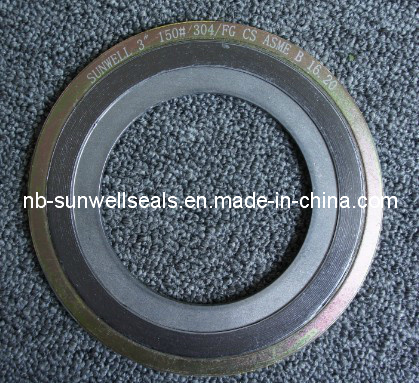 Spiral Wound Gaskets with Inner and Outer Rings (SUNWELL-SW600)