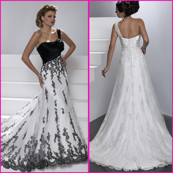 China Custom Formal Dresses White Black Lace Bridal Wedding Gowns A22 Photos Amp Pictures