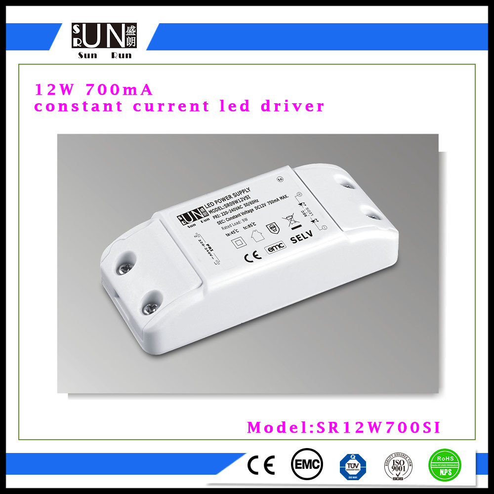 700mA 12W Cc LED Power Supply, Constant Current 700mA, Constant Current 650mA, Constant Current 550mA LED Driver, High PF 12W LED Power