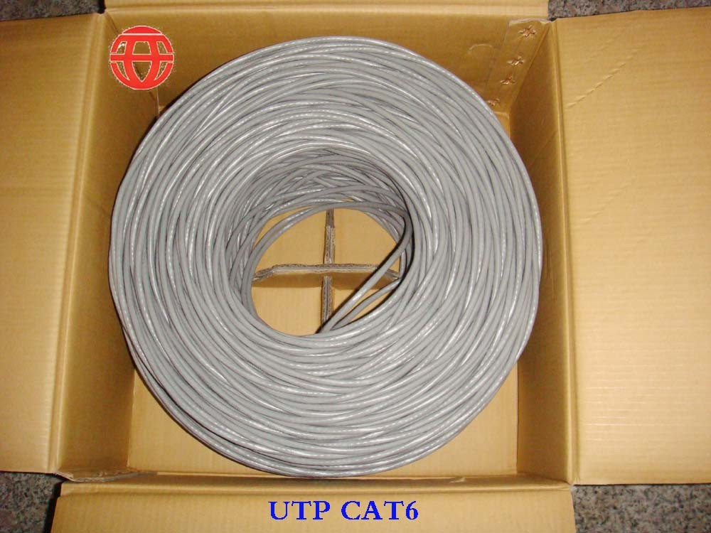 UTP CAT6 Network Cable with Transmission Frequency 250 MHz