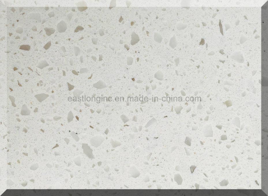 Ce Certificate & SGS Standard White Starlight Quartz Stone Slab for Countertops