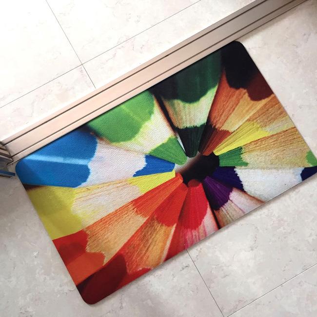 Rubber Crumb Outdoor Indoor Dye Sublimation Heat Transfer Digital Printed Custom Floor Door Mats