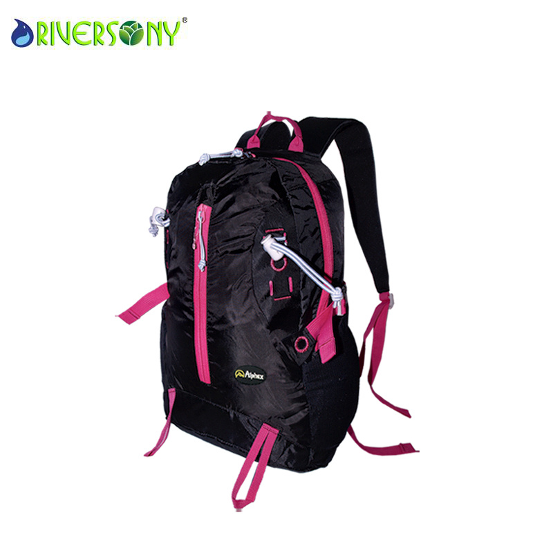 Nylon Black Hiking Backpack Bag